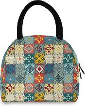 Lunch Bag, Boho Ethnic Insulated Lunch Box Cooler
