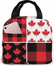 Lunch Bag Canadian Maple Leaf Buffalo Insulated