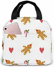 Lunch Bag Christmas Gingerbread Man Reusable Lunch