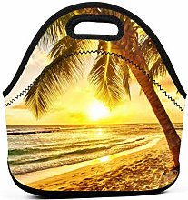 Lunch Bag Cool Bag,Beach Sunrise Cool Lunch Cooler