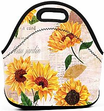 Lunch Bag Cool Bag,Sunflower Lunch Tote Box Cool