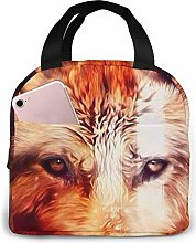 Lunch Bag Cool Wolf Insulated Lunch Tote Cooler