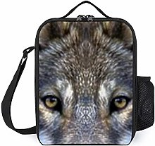 Lunch Bag Cooler Bag, Gray Wolf Tote Bag Insulated