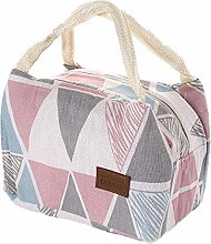 Lunch Bag Cotton Linen Fashion Insulation