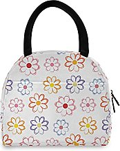Lunch Bag, Cute Colorful Flowers Insulated Lunch