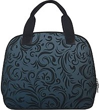 Lunch Bag,Dark Charcoal Gothic Style Lunch Box