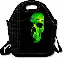 Lunch Bag Dark Skull Cooler Bag with Adjustable