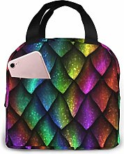 Lunch Bag Dragon Scale Insulated Lunch Tote