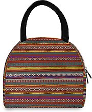 Lunch Bag, Ethnic Boho Print Insulated Lunch Box