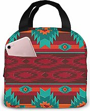 Lunch Bag Ethnic Geometric Pattern Insulated Lunch