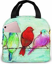 Lunch Bag Five Singing Birds Insulated Lunch Tote