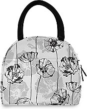 Lunch Bag, Floral Pattern Insulated Lunch Box