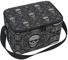 Lunch Bag Floral Sugar Skull Background Cooler for