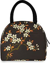Lunch Bag, Flower Pattern Insulated Lunch Box