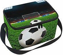 Lunch Bag Football Field Soccer Cooler for Picnic