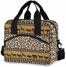 Lunch Bag for Women Men - African Style Wild