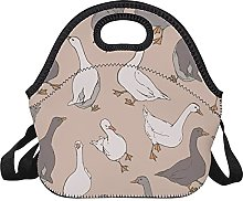 Lunch Bag Gray and White Geese Animal Goose