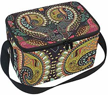 Lunch Bag Hippie Colorful Heart Mandala Paisley
