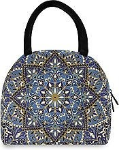 Lunch Bag, Indian Boho Floral Insulated Lunch Box