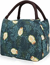 Lunch Bag Insulated Lunch Box Cool Bag Green Owl
