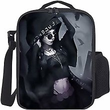 Lunch Bag Kids Lunch Box Isoliertes Gothic Girl