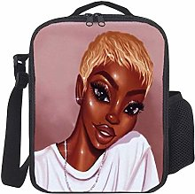 Lunch Bag Kids Lunch Rucksack Black Art