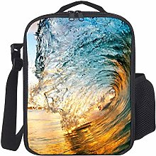 Lunch Bag Kids Lunch Rucksack Cool Funny Wave