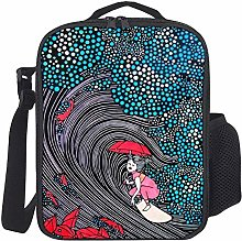 Lunch Bag Kids Lunch Rucksack Cool Girl Surfing