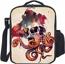 Lunch Bag Kids Lunch Rucksack Cool Octopus Skull