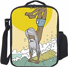 Lunch Bag Kids Lunch Rucksack Cool Old Man Surfing