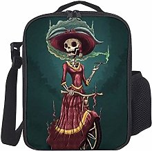 Lunch Bag Kids Lunch Rucksack Cool Skeleton Lady