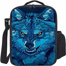 Lunch Bag Kids Lunch Rucksack Cool Wolf Lunch Bag