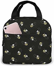 Lunch Bag - Lovely Bees Tote Handbag Lunchbox Food