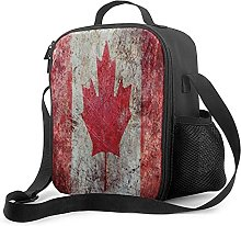 Lunch Bag Men Retro Canada Flag Canadian Maple