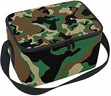 Lunch Bag Military Camo Woodland Camoflage Cooler