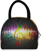 Lunch Bag, Music Note Insulated Lunch Box Cooler