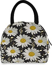 Lunch Bag, Music Notes Daisies Insulated Lunch Box