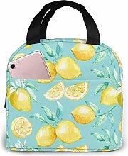 Lunch Bag Painting Yellow Lemon Lunch Bag Reusable