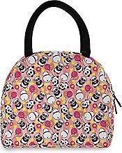 Lunch Bag, Panda Balloon Insulated Lunch Box
