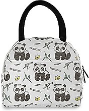 Lunch Bag, Panda Bamboo Insulated Lunch Box Cooler