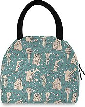 Lunch Bag, Panda Elephant Insulated Lunch Box