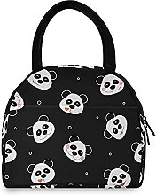 Lunch Bag, Panda Emotion Insulated Lunch Box