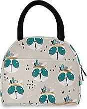 Lunch Bag, Panda Face Insulated Lunch Box Cooler