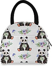 Lunch Bag, Panda Insulated Lunch Box Cooler Bag