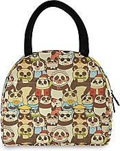Lunch Bag, Pandas Family Insulated Lunch Box