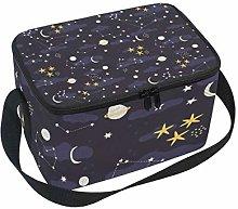 Lunch Bag Stars Moon Sun Galaxy Space Nebula