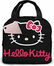 Lunch Bag Tote Black and Pink Hello Kitty Lunchbox