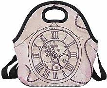 Lunch Bag Tote Handbag Lunchbox Vintage Gears