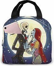 Lunch Bag Tote Jack and Sally in Love Nightmare