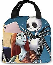 Lunch Bag Tote Jack Skellington and Sally Lunchbox